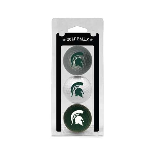 Michigan State University Spartans Golf 3 Ball Pack