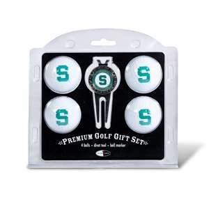 Michigan State University Spartans Golf 4 Ball Gift Set