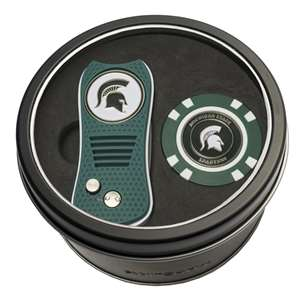 Michigan State University Spartans Golf Tin Set - Switchblade, Golf Chip