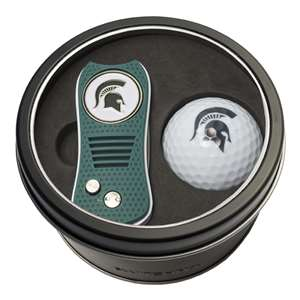 Michigan State University Spartans Golf Tin Set - Switchblade, Golf Ball