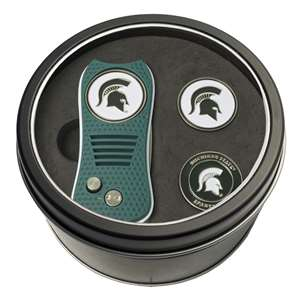 Michigan State University Spartans Golf Tin Set - Switchblade, 2 Markers