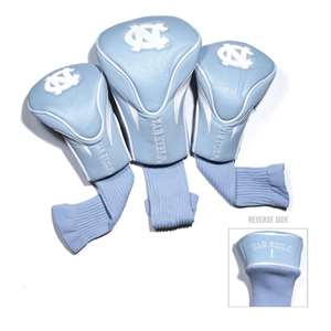 University of North Carolina Tar Heels Golf 3 Pack Contour Headcover