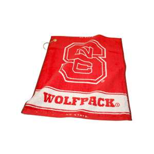 NC State Wolfpack  Jacquard Woven Golf Towel