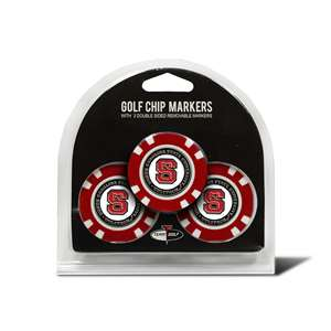 North Carolina State University Wolfpack Golf 3 Pack Golf Chip