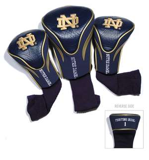 Notre Dame University Fighting Irish Golf 3 Pack Contour Headcover