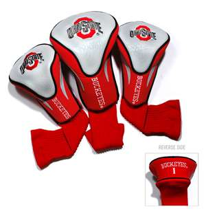Ohio State University Buckeyes Golf 3 Pack Contour Headcover 22894