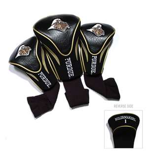 PURDUE UNIVERSITY Golf Club Headcover Contour 3 Pack