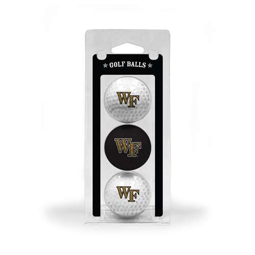 Wake Forest University Demon Deacons Golf 3 Ball Pack 23805