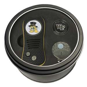 Wake Forest University Demon Deacons Golf Tin Set - Switchblade, Cap Clip, Marker 23857