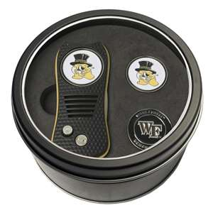 Wake Forest University Demon Deacons Golf Tin Set - Switchblade, 2 Markers 23859