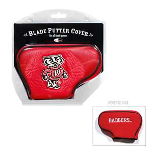 University of Wisconsin Badgers Golf Blade Putter Cover