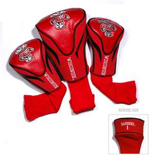 WISCONSIN (UNIVERSITY OF) Golf Club Headcover Contour 3 Pack