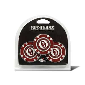 University of Oklahoma Sooners Golf 3 Pack Golf Chip
