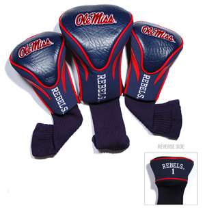 University of Mississippi Ole Miss Rebels Golf 3 Pack Contour Headcover 24794