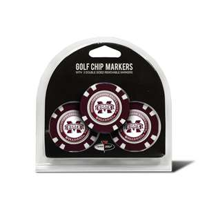 Mississippi State University Bulldogs Golf 3 Pack Golf Chip
