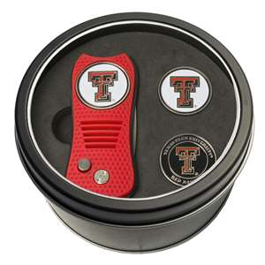Texas Tech Red Raiders Golf Tin Set - Switchblade, 2 Markers