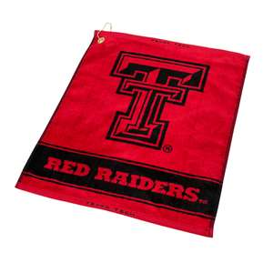 Texas Tech Red Raiders  Jacquard Woven Golf Towel