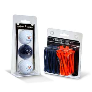 Virginia Cavaliers  3 Golf Balls And 50 Golf Tees