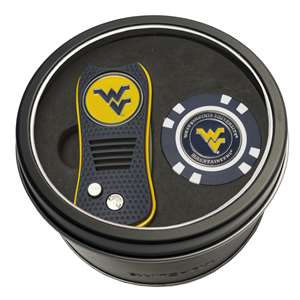 University of West Virginia Mountaineers Golf Tin Set - Switchblade, Golf Chip