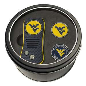 University of West Virginia Mountaineers Golf Tin Set - Switchblade, 2 Markers