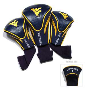 WEST VIRGINIA UNIVERSITY Golf Club Headcover Contour 3 Pack