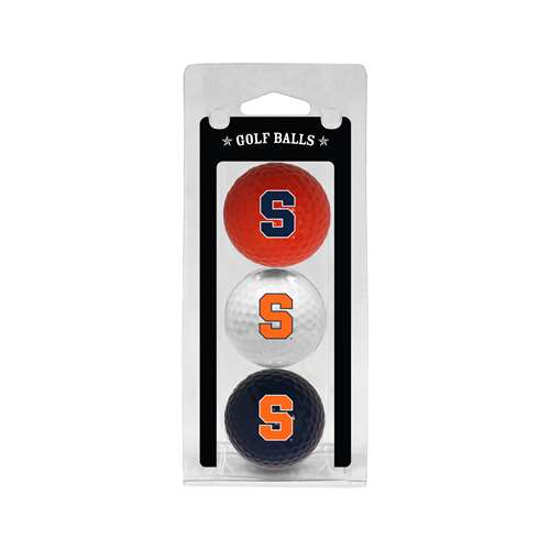 Syracuse Uninversity Orange Golf 3 Ball Pack