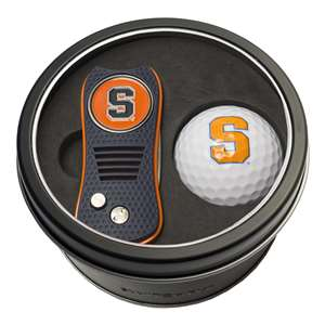 Syracuse Uninversity Orange Golf Tin Set - Switchblade, Golf Ball