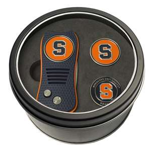 Syracuse Uninversity Orange Golf Tin Set - Switchblade, 2 Markers