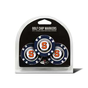 Syracuse Uninversity Orange Golf 3 Pack Golf Chip