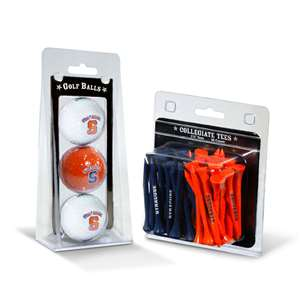 Syracuse Orange  3 Golf Balls And 50 Golf Tees