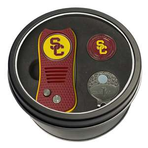 University of Southern California USC Trojans Golf Tin Set - Switchblade, Cap Clip, Marker 27257