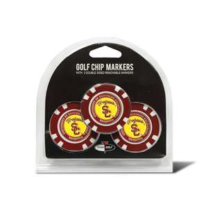 University of Southern California USC Trojans Golf 3 Pack Golf Chip