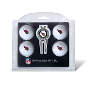 Arizona Cardinals Golf 4 Ball Gift Set