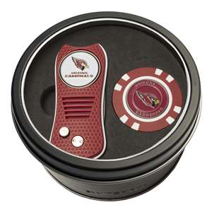 Arizona Cardinals Golf Tin Set - Switchblade, Golf Chip