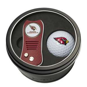 Arizona Cardinals Golf Tin Set - Switchblade, Golf Ball