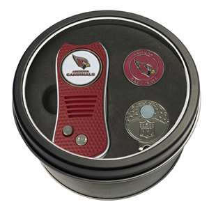 Arizona Cardinals Golf Tin Set - Switchblade, Cap Clip, Marker