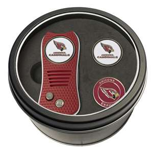 Arizona Cardinals Golf Tin Set - Switchblade, 2 Markers 30059