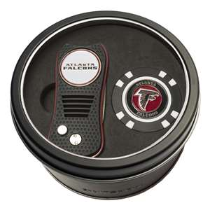 Atlanta Falcons Golf Tin Set - Switchblade, Golf Chip