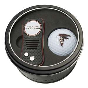 Atlanta Falcons Golf Tin Set - Switchblade, Golf Ball