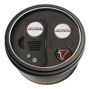 Atlanta Falcons Golf Tin Set - Switchblade, 2 Markers