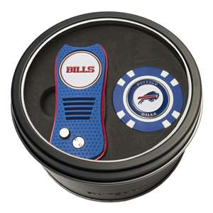 Buffalo Bills Golf Tin Set - Switchblade, Golf Chip