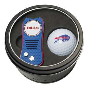 Buffalo Bills Golf Tin Set - Switchblade, Golf Ball