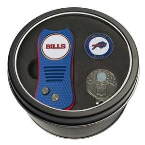 Buffalo Bills Golf Tin Set - Switchblade, Cap Clip, Marker
