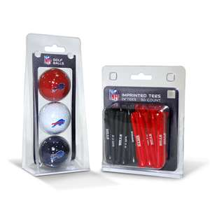 Buffalo Bills  3 Golf Balls And 50 Golf Tees