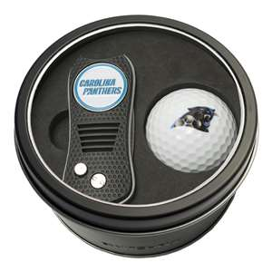 Carolina Panthers Golf Tin Set - Switchblade, Golf Ball