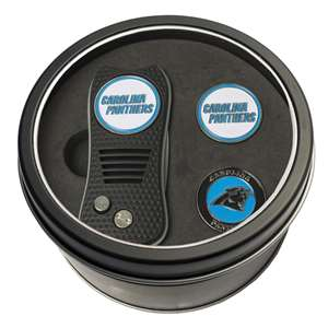 Carolina Panthers Golf Tin Set - Switchblade, 2 Markers
