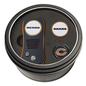 Chicago Bears Golf Tin Set - Switchblade, 2 Markers