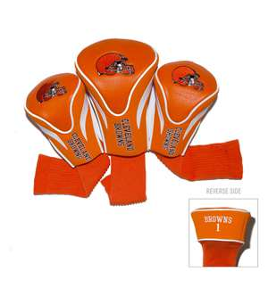 CLEVELAND BROWNS Golf Club Headcover Contour 3 Pack