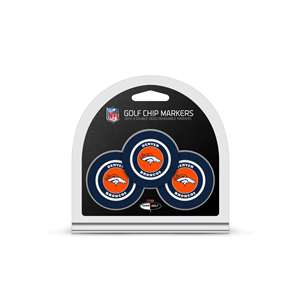 Denver Broncos Golf 3 Pack Golf Chip