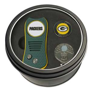 Green Bay Packers Golf Tin Set - Switchblade, Cap Clip, Marker 31057
